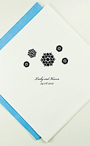 Personalized Wedding Napkins Snowflakes(More Colors)-Set of 100