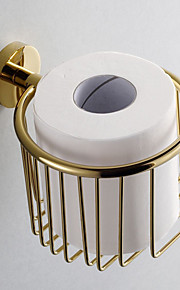 Gold Bathroom Accessories Brass Toilet Paper Holder