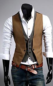 mannen slanke faux tweedelige vest