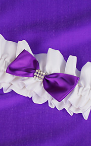 Wedding Garter With Purple Bow