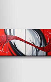 handmålade abstrakta oljemålningar med sträckt ram - set om 4
