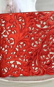 """""""A Red-letter Day""""Floral Cut-out Wedding Invitation - Set of 50"""