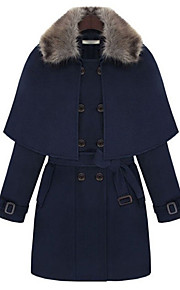 Women's Double Breasted Tweed Coat