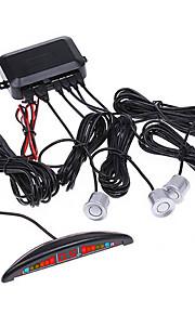LED dell'automobile del radar di inverso di sostegno con 4 sensori (nero, argento)