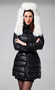 Frauen Einfachheit Kunsthaar Baumwolle gepolsterte hoodied unten (Gürtel nicht incloded)