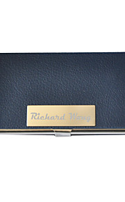 Personalized PU Leather Formal Style Engraved Business Card Holder (Assorted Colors)