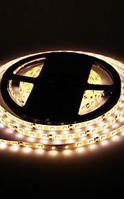 Vanntett 5M 24W 60x3528SMD 900-1200LM 2800-3200K Warm White Light LED stripe lys (DC12V)