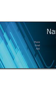 200pcs Personlig 2 sider Trykt Matte Film Blue Light Pattern Visitkort
