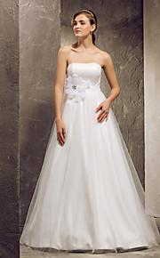 Lanting Bride® Corte en A Tallas pequeñas / Tallas Grandes Vestido de Boda - Clásico y Atemporal Hasta el Suelo Sin Tirantes Tul con