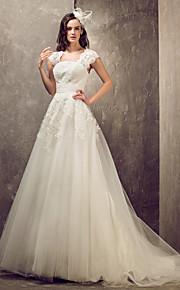 Lanting Bride® Corte en A / Princesa Tallas pequeñas / Tallas Grandes Vestido de Boda - Elegante y Lujoso / Glamouroso Espalda Abierta