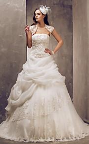 Lanting Bride® Salón Tallas pequeñas / Tallas Grandes Vestido de Boda - Elegante y Lujoso / GlamourosoVestidos de Novia con Mantón /