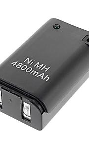 Genopladelig 4800mAh Battery Pack med USB-kabel til Xbox 360 (sort)