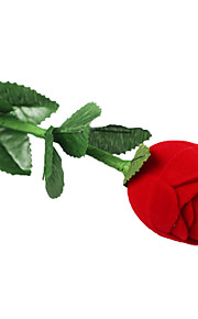 Romantique rose rouge Boîte à bijoux Pour anneau de proposition