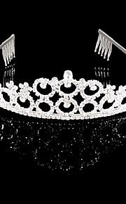 Femme Strass / Cristal Casque-Mariage / Occasion spéciale Tiare Argent / Clair