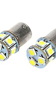 BA15S T18 1.6W 12VDC 110LM 9-LED hvidt lys Car lyspærer