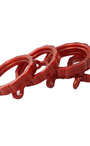 Mønstret Lett Curtain Clip Ring (Diameter 4.2cm) Sett med 4