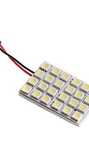 5050 SMD 24 LED blanco de la bóveda de la bombilla de Interior del coche con 3 adaptadores