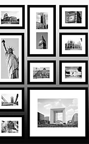 10のブラックニューヨーク写真壁掛けフレームコレクションセット