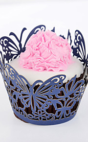 Butterfly Laser Cut Cupcake Wrapper - Set of 24 (More Colors)