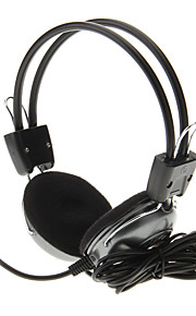 718 3.5mm High Quality Headset On-ear hovedtelefoner med mikrofon til computer (Grå)
