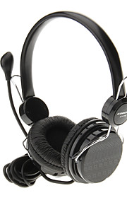 715 3.5mm High QualityHeadset On-ear hovedtelefoner headset med mikrofon til computer (sort)