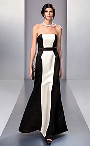 Formal Evening/Prom/Military Ball Dress - Multi-color A-line Strapless Floor-length Chiffon