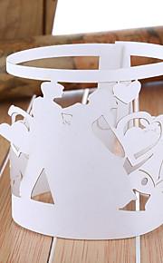 Boda Classic Tema servilleta de papel Anillos - Juego de 12