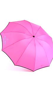 Personalized Metal Frame Anti-UV Parasol Sun/Rain Folding Umbrella (More Colors)