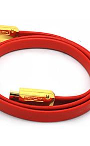 C-Cavo HDMI 1.4 maschio-maschio cavo TV-Type Red 3D HD TV (8M)