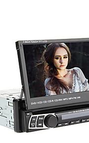 7 tommer 1DIN TFT-skærm In-Dash Aftageligt panel Bil DVD-afspiller med GPS, BT, RDS, iPod, Touch Screen