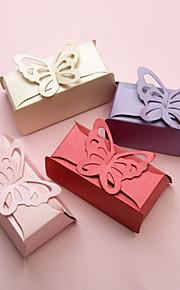 Boîtes de 12 pièces / set support de papier faveur de perles faveur buttefly