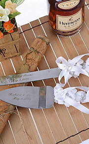 Serving Sets Wedding Cake Knife Personalized Serving Set with Ribbon and Rhinestone