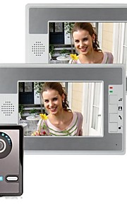 7 tommer video dørtelefon dørklokken Intercom Kit 1-kamera 2-monitor Night Vision