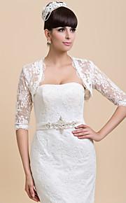 demi vestes du soir en dentelle à manches mariage / partie personnalisées / enveloppements (plus de couleurs) bolero haussement