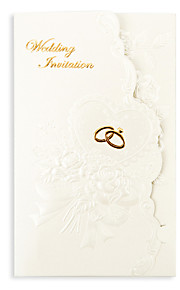 Flower Rings Design Wedding Invitation - Set of 50