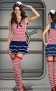 Cute Girl Red Stripes Wzór Navy Uniform