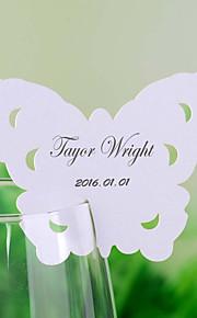cartes de place et les détenteurs papillon chic, en forme de carte de place pour un verre de vin - un ensemble de 12
