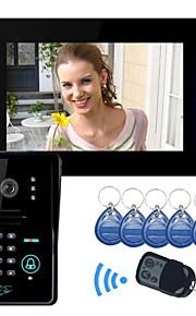 "Raak Toets 7 ""LCD video deurtelefoon intercom systeem Wth IR Camera Code Keypad"