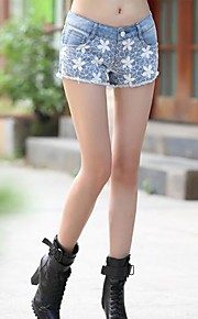 TS-Fashion Low Waist Lace Splicing Denim-kurze Hosen