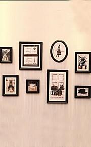 Black Photo Frame Set of 10 Classical Europern Style