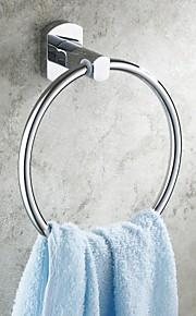 Salle de bains en laiton, fini chrome Anneaux porte-serviettes rondes