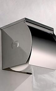 """Porte-papier hygiénique semi-fermée en acier inoxydable mural, 5 """"x 5"""" x 5 """""""