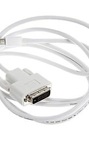 Thunderbolt Male til DVI Male Hvit videokabel til MacBook (180cm)