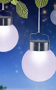 Suspendus solaire feux de billes de plastique de 1 LED blanche en plein air pour la décoration