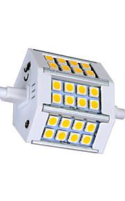 r7s 5W 24x5050 330lm chaude lumière blanche / froid led ampoule de maïs (AC85-265V)
