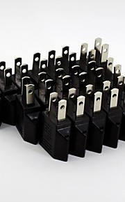 ronda al convertidor de enchufe plano (20 / pack 110v-240v)