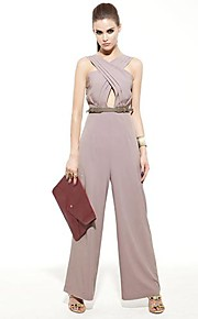 JOANNE KITTEN Women's Pink/Black/Gray Jumpsuits , Sexy/Bodycon/Casual/Work Sleeveless