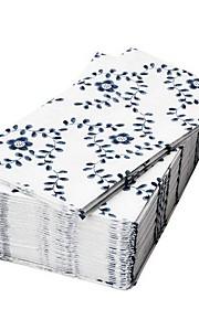 elegante mønster papir serviet jomfrupulp 30 stykke 17x17x3cm