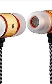 yafox ® dt-mb057ear hoofdtelefoon met microfoon 3,5 mm connector voor iphone / htc / samsung bamboemateriaal