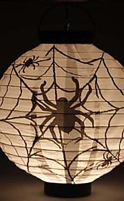 conduit lanterne citrouille style cartoon lumière 1 papier à motif d'araignée